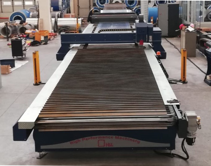 Levelling line and plasma cutting